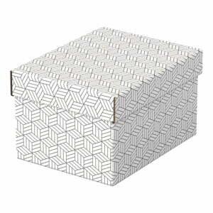 Súprava 3 bielych úložných škatúľ Leitz Eselte, 20 x 25,5 cm