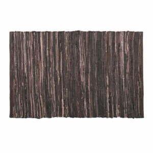 Tmavohnedý kožený koberec Tiseco Home Studio Nayya, 60 x 90 cm