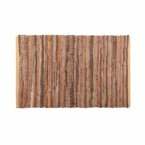 Hnedo-oranžový kožený koberec Tiseco Home Studio Nayya, 60 x 90 cm