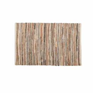 Hnedo-béžový kožený koberec Tiseco Home Studio Nayya, 60 x 90 cm