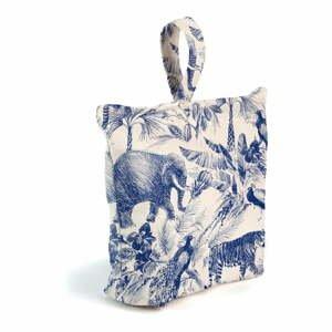Modro-biela látková zarážka do dverí Surdic Safari
