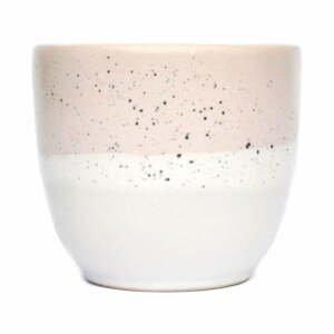 Ružovo-biela kameninová šálka ÅOOMI Dust, 200 ml