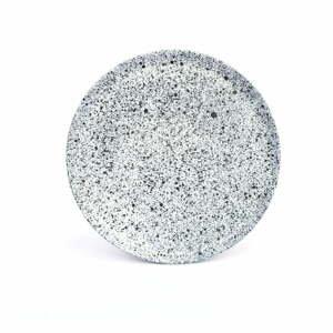 Bielo-čierny kameninový malý tanier ÅOOMI Mess, ø 20 cm