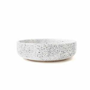 Bielo-čierna kameninová raňajková miska ÅOOMI Mess, ø 16 cm
