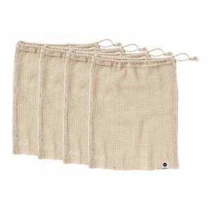 Súprava 4 desiatových vreciek z recyklovanej bavlny Ladelle Eco, 30 x 40 cm