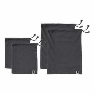 Súprava 4 čiernych desiatových vreciek z recyklovanej bavlny Ladelle Eco