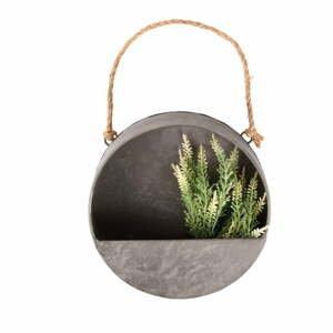 Sivý nástenný kvetináč Esschert Design, ø 20 cm