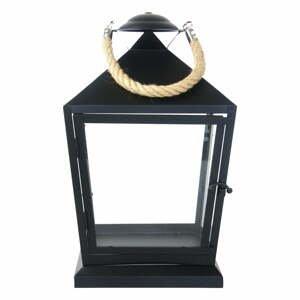 Čierny lampáš Esschert Design Classical, výška 35,4 cm