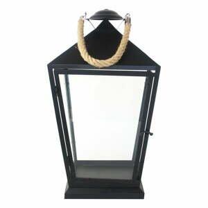 Čierny lampáš Esschert Design Classical, výška 45,6 cm