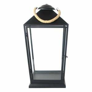 Čierny lampáš Esschert Design Classical, výška 58 cm