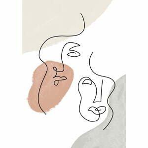 Plagát na kvalitnom papieri Veronika Boulová Abstraktné, 29 x 41 cm