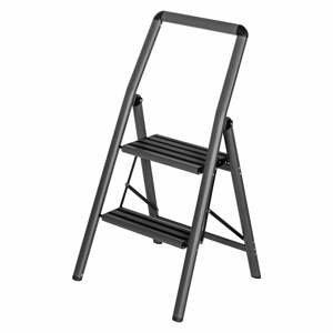 Sivé schody Wenko Compact, výška 91,5 cm