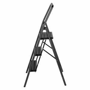 Sivé schody Wenko Compact, výška 114,5 cm
