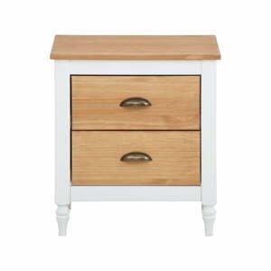 Biely nočný stolík z borovicového dreva Støraa Rio