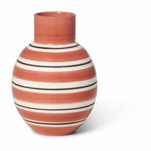 Ružovo-biela keramická váza Kähler Design Nuovo, výška 14,5 cm