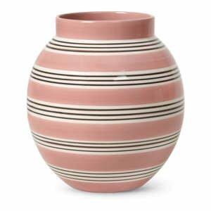 Ružovo-biela porcelánová váza Kähler Design Nuovo, výška 20,5 cm