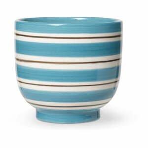 Modro-biely keramický kvetináč Kähler Design, ø 12 cm