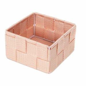 Ružový kúpeľňový organizér Compactor Stan, 12 x 12 cm
