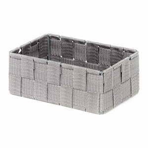 Sivý kúpeľňový organizér Compactor Stan, 18 x 12 cm