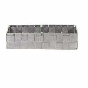 Sivý kúpeľňový organizér Compactor Stan, 30 x 12 cm
