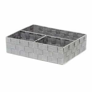 Sivý kúpeľňový organizér Compactor Stan, 32 x 25 cm