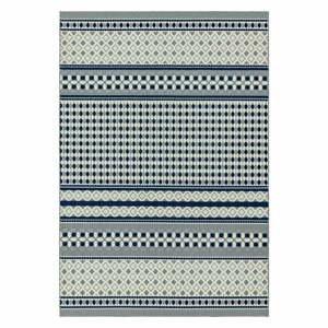 Modro-biely koberec Asiatic Carpets Antibes Geometric, 80 x 150 cm