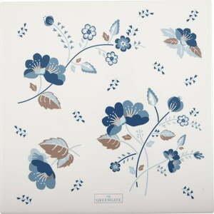 Bielo-modrý podnos Green Gate Mozy, 22 x 22 cm