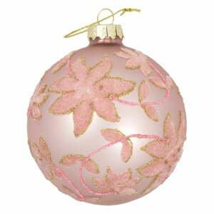 Ružová sklenená vianočná ozdoba Green Gate Marie