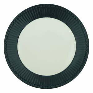 Bielo-sivý keramický tanier Green Gate Alice, ø 23 cm