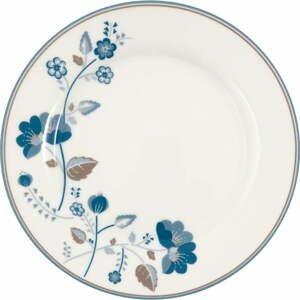 Bielo-modrý kameninový tanier Green Gate Mozy, ø 20,5 cm