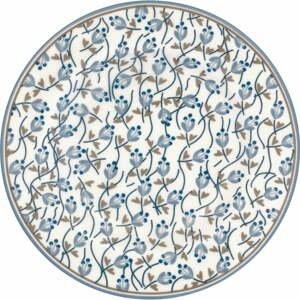 Modro-biely kameninový tanier Green Gate Addison, ø 15 cm