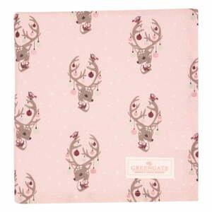 Ružový bavlnený obrus Green Gate Dina, 100 x 100 cm