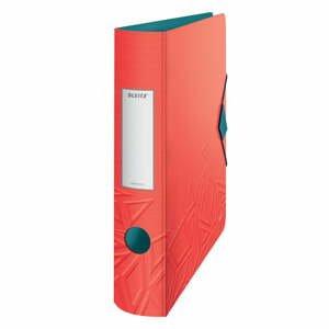 Červený mobilný zaraďovač Leitz, šírka 65 mm