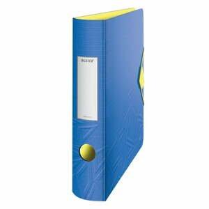 Modrý mobilný zaraďovač Leitz, šírka 65 mm