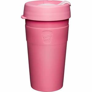 Ružový cestovný hrnček s vekom KeepCup Saskatoon Thermal, 454 ml