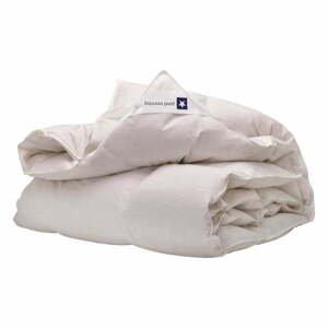 Biela prikrývka s výplňou z kačacieho peria Good Morning Premium,155x220cm