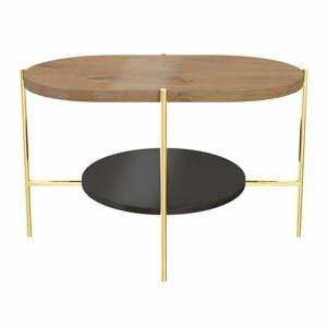Konferenčný stôl s podnožím v zlatej farbe Skandica Arena
