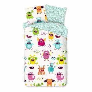 Detské bavlnené obliečky Good Morning Monsters,140x220cm