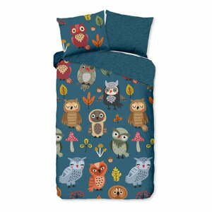 Detské bavlnené obliečky Good Morning Owls, 140 x 220 cm