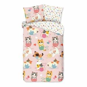 Detské bavlnené obliečky Good Morning Kitty,140x220cm