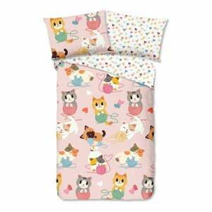 Detské bavlnené obliečky Good Morning Kitty, 140 x 200 cm