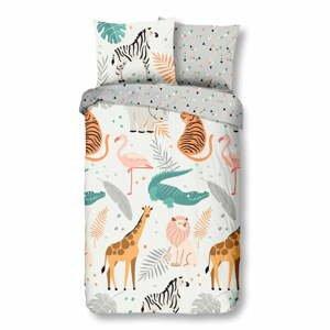 Detské bavlnené obliečky Good Morning Zoo,140x220cm