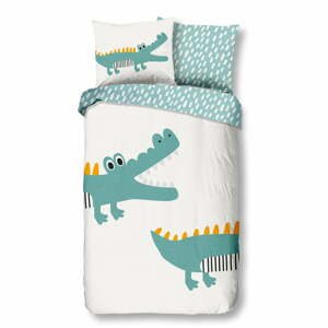 Detské bavlnené obliečky Good Morning Crocodile,140x220cm