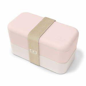 Svetloružový desiatový box Monbento Original