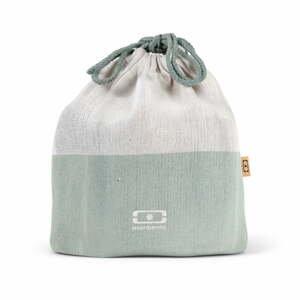Zelené textilné vrecúško na desiatový box Monbento Pochette