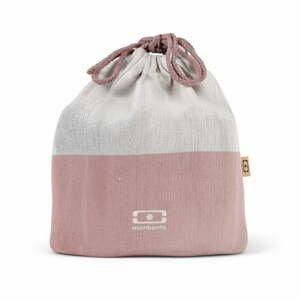 Ružové textilné vrecúško na desiatový box Monbento Pochette