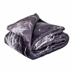 Sivá mikroplyšová deka My House Pampeliška, 150 x 200 cm