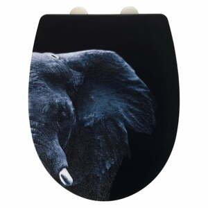Čierna WC antikoro doska Wenko Elephant