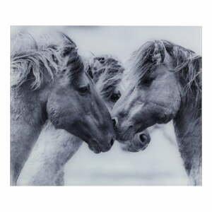 Sivý sklenený kryt na stenu vedľa sporáka Wenko Horses, 60 x 50 cm