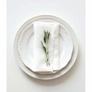 Súprava 2 bielych ľanových obrúskov Linen Tales Classic, 40 x 40 cm